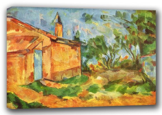 Cezanne, Paul: Le Cabanon de Jourdan. Fine Art Canvas. Sizes: A3/A2/A1 (001025)